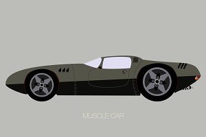 muscle car illustration