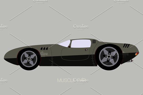 Muscle Car Illustration Illustrations Creative Market