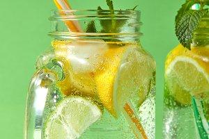 Summer refreshing detox drink for