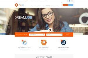 YouJob - Job Portal (HTML+PSD)