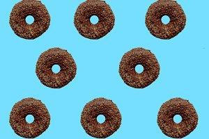 Yummy chocolate donuts