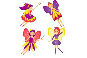 Cute flying fairy set
