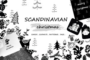 Scandinavian Christmas Elements