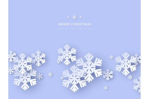 Christmas holiday design with paper