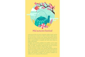 Mid Autumn Festival Card with Teapot