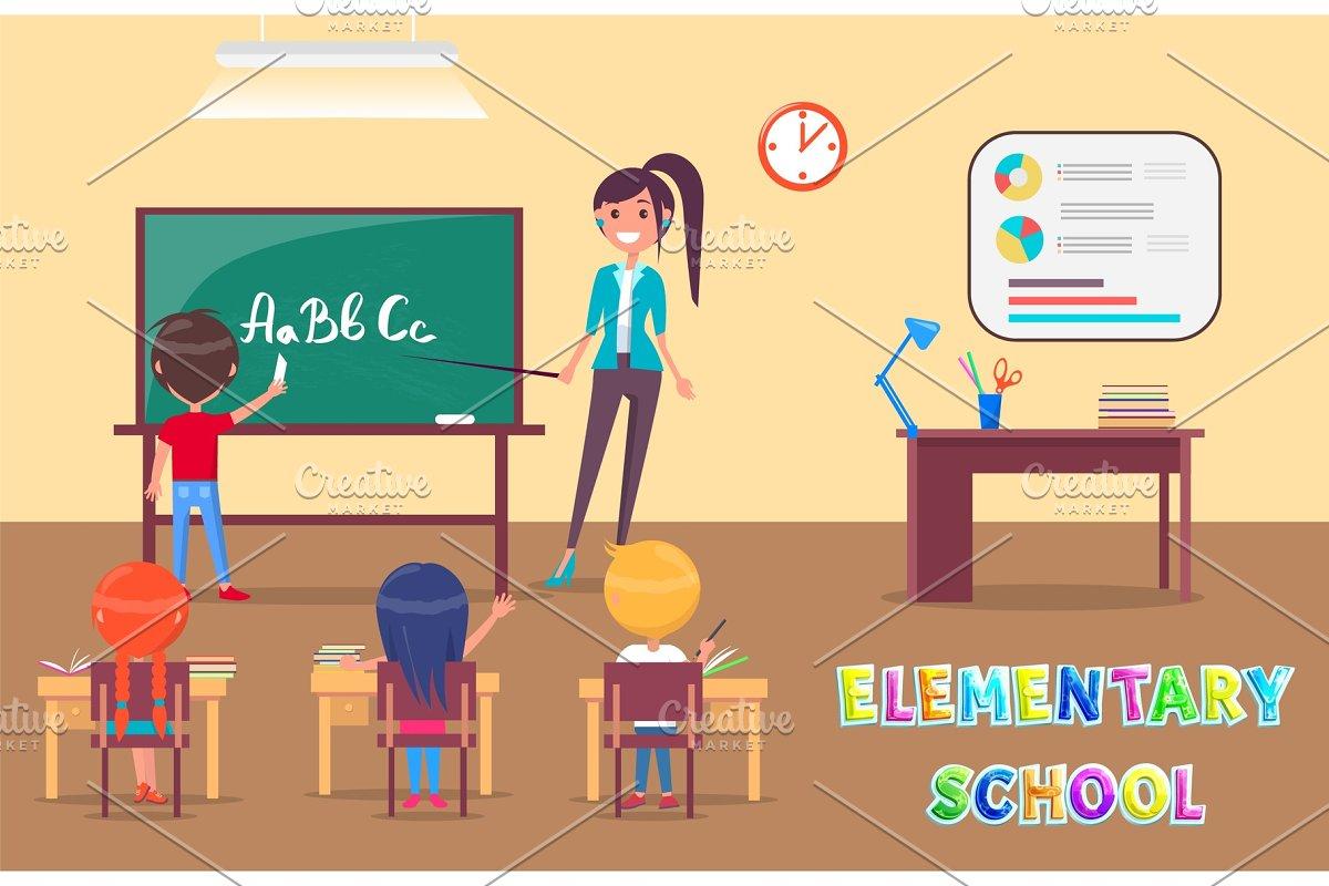 Elementary School Grammar Lesson in