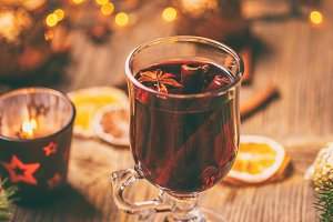 Spiced hot wine