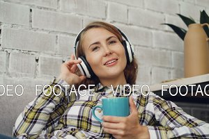 Beautiful young woman is singing