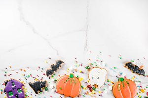 Halloween cookies and candies