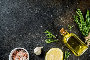Cooking food ingredients background
