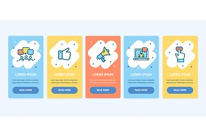 Oneboarding App Banners Cards