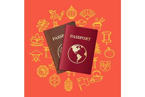 China Travel and Tourism Concept