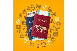 Travel and Tourism Concept Card