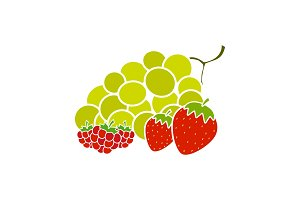 Berries glyph color icon