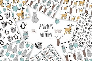 Animals & patterns for baby nursery