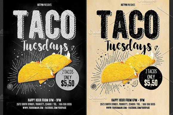 taco flyer template flyer templates creative market