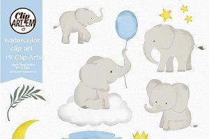 Elephant Clip Art Watercolor