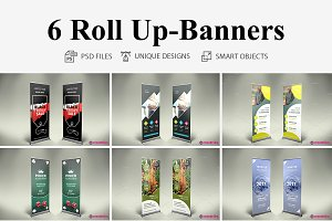 6 Roll Up Banners