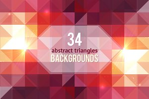 34 geometric abstract backgrounds