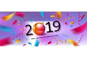 Glossy New Year Card