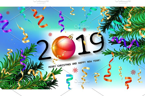 2019 happy new year card