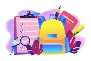 Back to school list concept vector