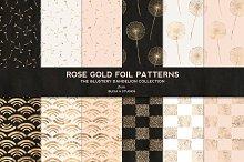 Dandelion Rose Gold Foil Patterns