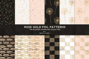 Dandelion Rose Gold Foil Patterns