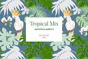 Tropical Mix Seamless Pattern