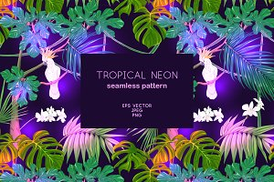 Tropical Neon Seamless Pattern