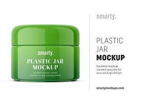 Cosmetic cream jar mockup