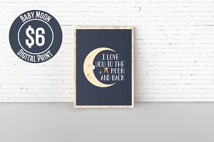 Baby Moon Digital Print (4 Sizes)