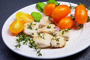 Dietary dish - chicken breast with h