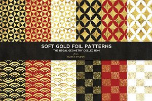 Regal Geometric Gold Foil Patterns