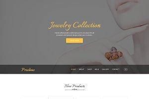 Precious - Jewelry PSD Template