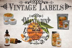 Mandarin Vintage Labels