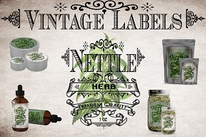 Nettle Vintage Labels