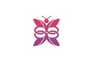 Infinity Butterfly Logo