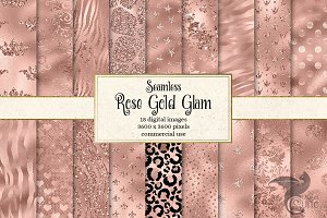 Rose Gold Glam Digital Paper