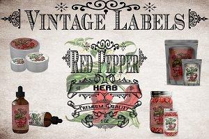 Red Pepper Vintage Label