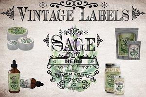 Sage Vintage Labels