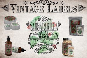 Sarsaparilla Vintage Label