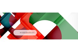 Geometric squares abstract banner