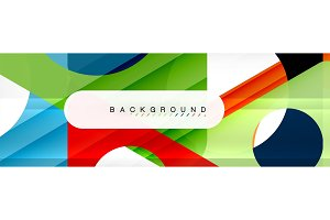 Geometric background, circles and
