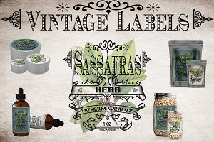 Sassafras Vintage Label
