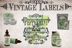 Peppermint Vintage Labels