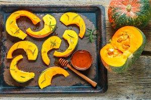 Pumpkin slices for baking