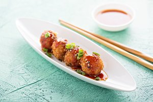 Fried asian appetizers