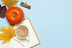Pumpkin spiced latte or coffee