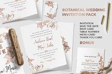 Botanical Wedding Invitation Pack